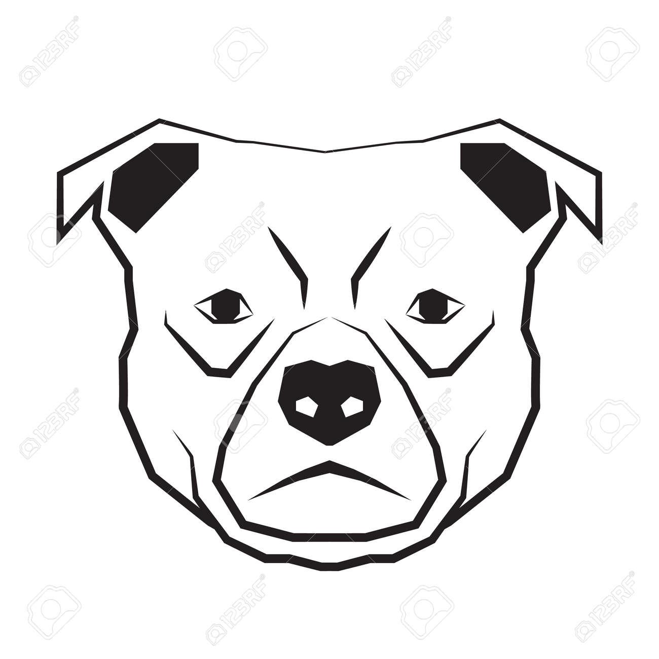 Cara De Perro Contorno Dibujo En Blanco Y Negro Ilustracion
