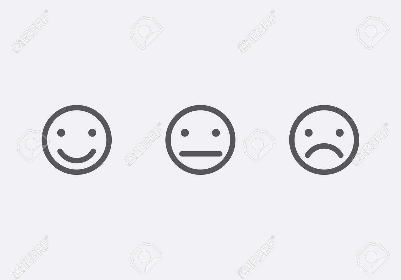206a11b6cb Diferentes caras sonrientes ilustración iconos del vector Foto de archivo -  45890195