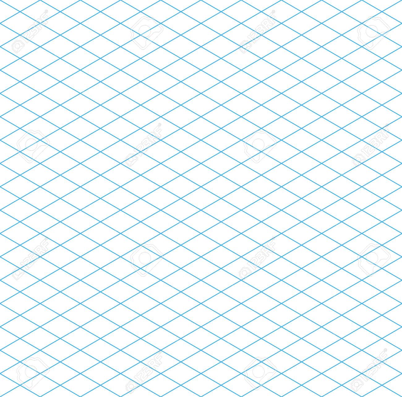 Seamless Isometric Grid Pattern, Vector Illustration, EPS 10 ...