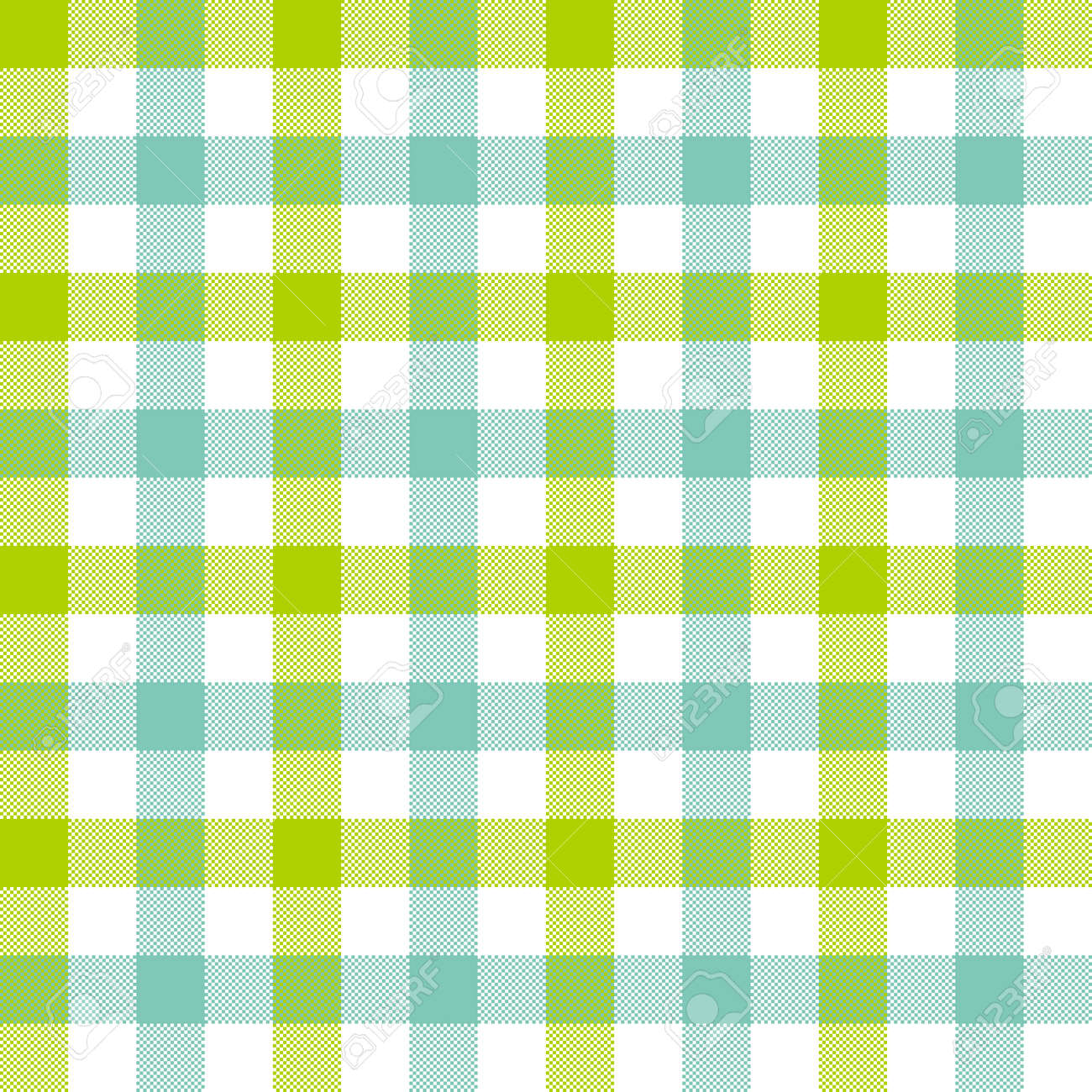 Green Blue Check Tablecloth Seamless Pattern. Vector Illustration. Stock  Vector   69822483
