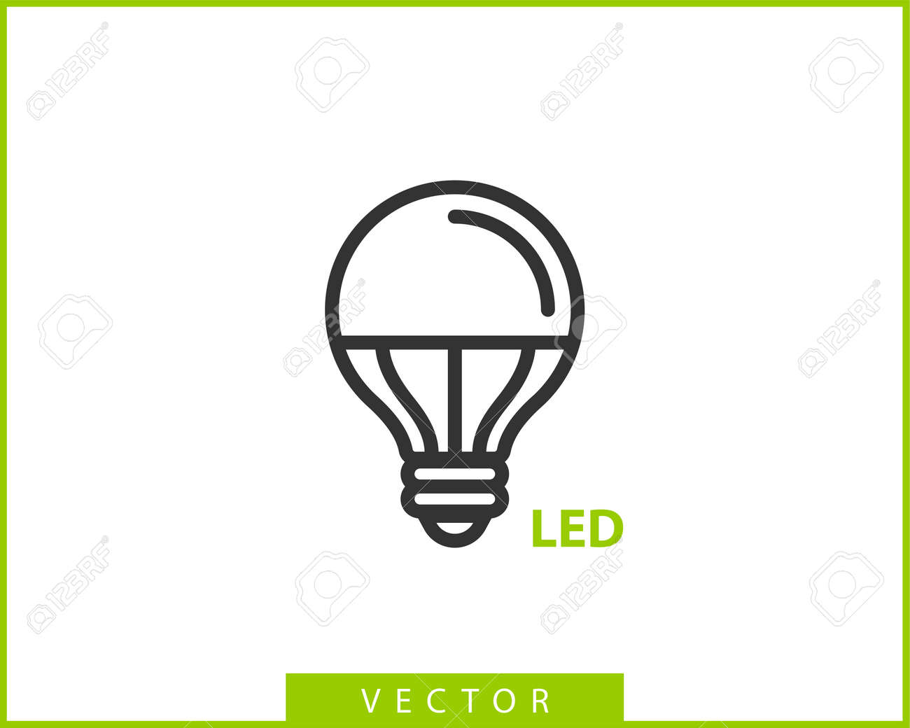 Light Bulb Icon Vector Llightbulb Idea Logo Concept Lamp Electricity Royalty Free Cliparts Vectors And Stock Illustration Image 124477511
