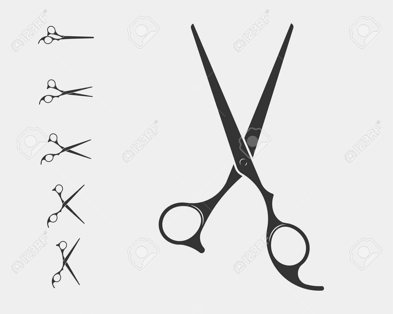 Hair Cutting Scissors Vector 5