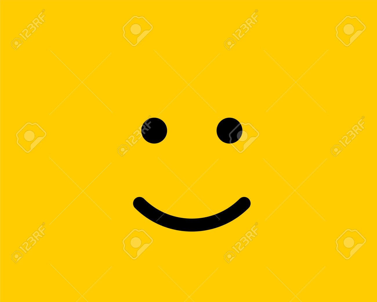 129260370 emoji smile icon vector symbol on yellow background smiley face cartoon character wallpaper