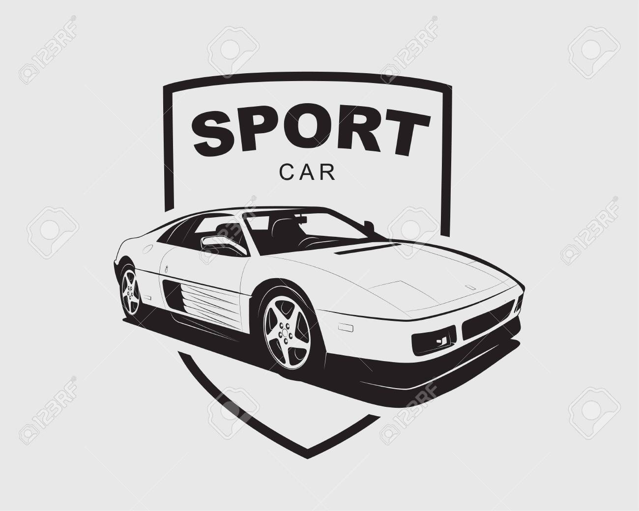 Supercar Vector Sport Car Label Auto Garage Symbol Template Royalty Free Cliparts Vectors And Stock Illustration Image 129813357