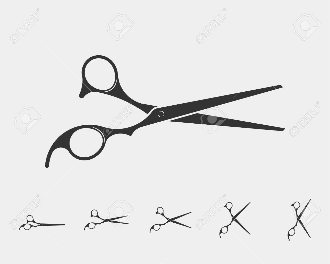 Hair Cutting Scissors Vector 10