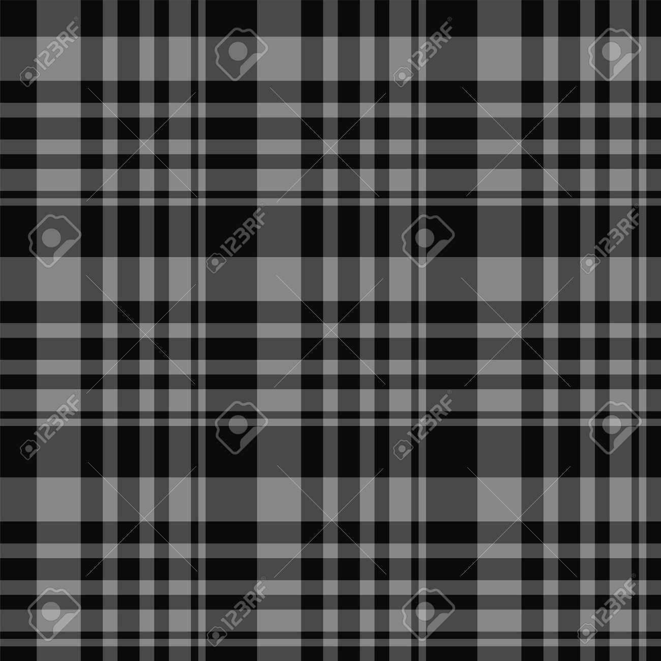 Check plaid seamless pattern. Vector background of textile ornament. Flat fabric design. Tartan. - 158984085