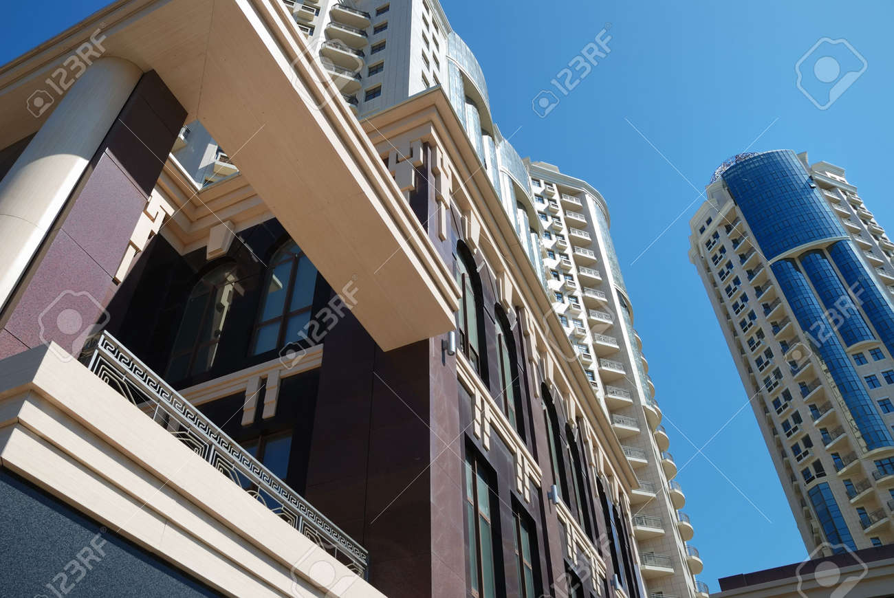 The facade of a modern apartment building Stock Photo - 5537687