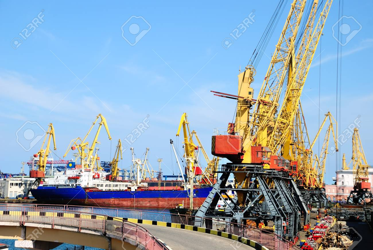 Port warehouse with containers and industrial cargoes Stock Photo - 7609464