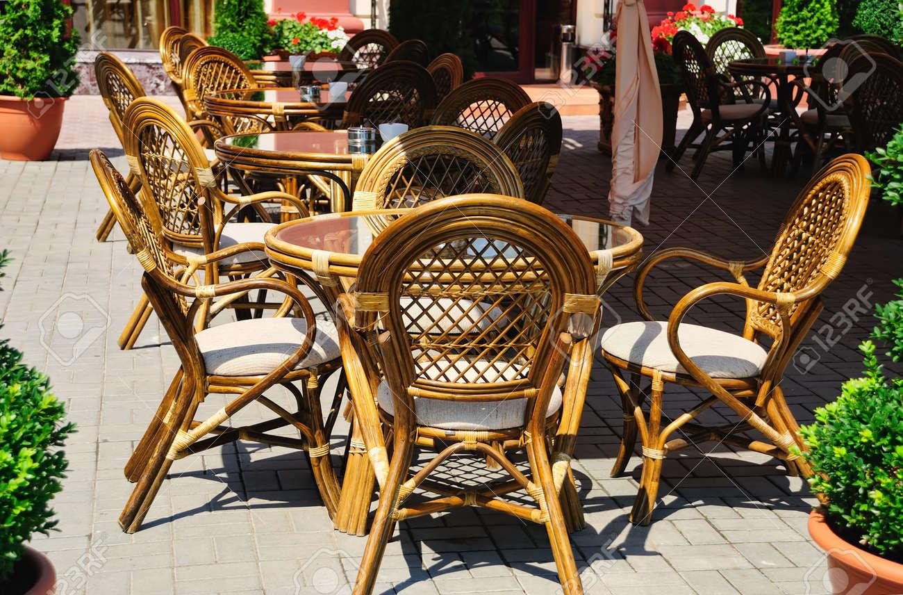 Interior of a summer open-air cafe Stock Photo - 9284051