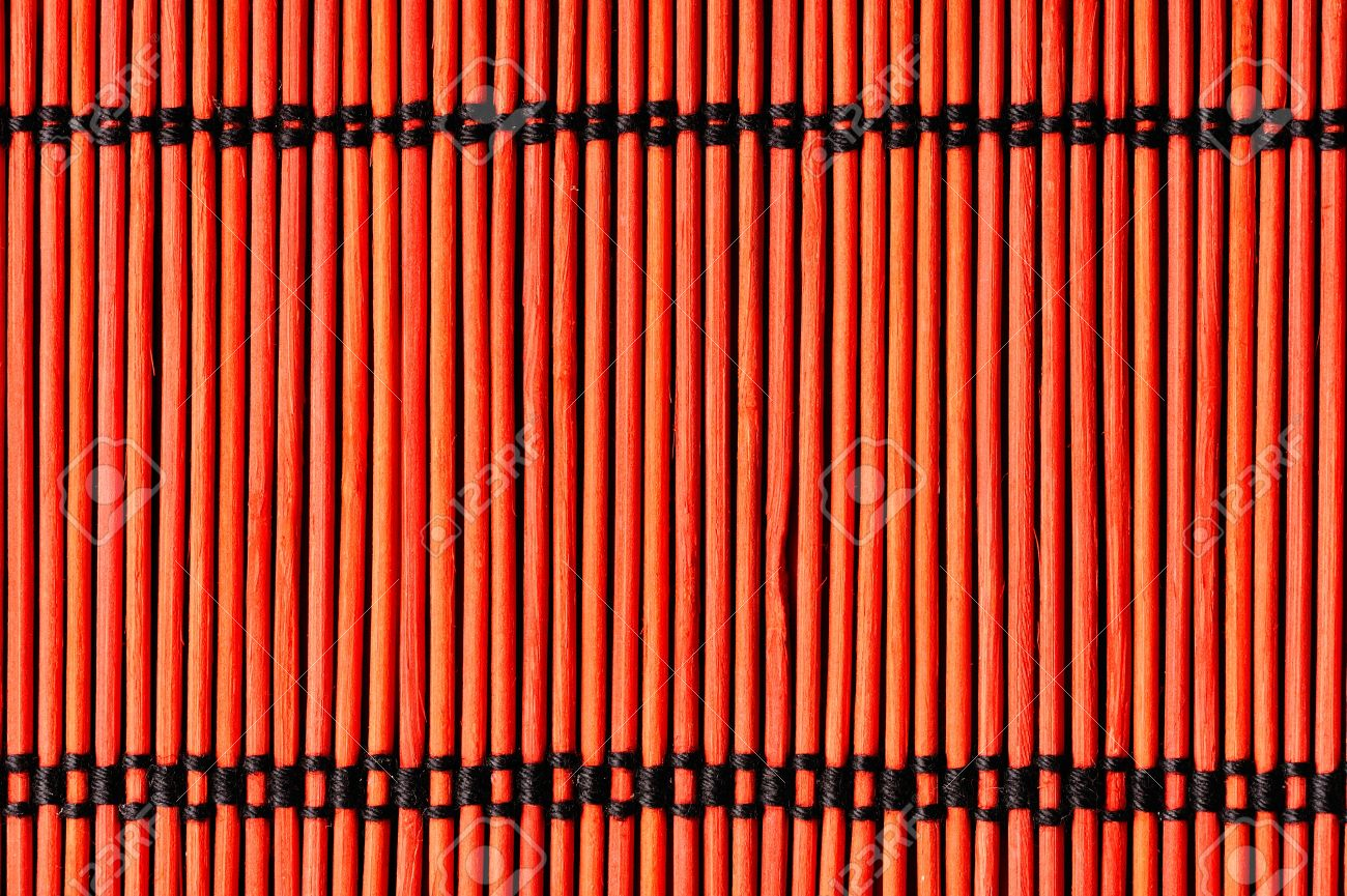 Charmant Red Bamboo Table Cloth Background Stock Photo   12741691