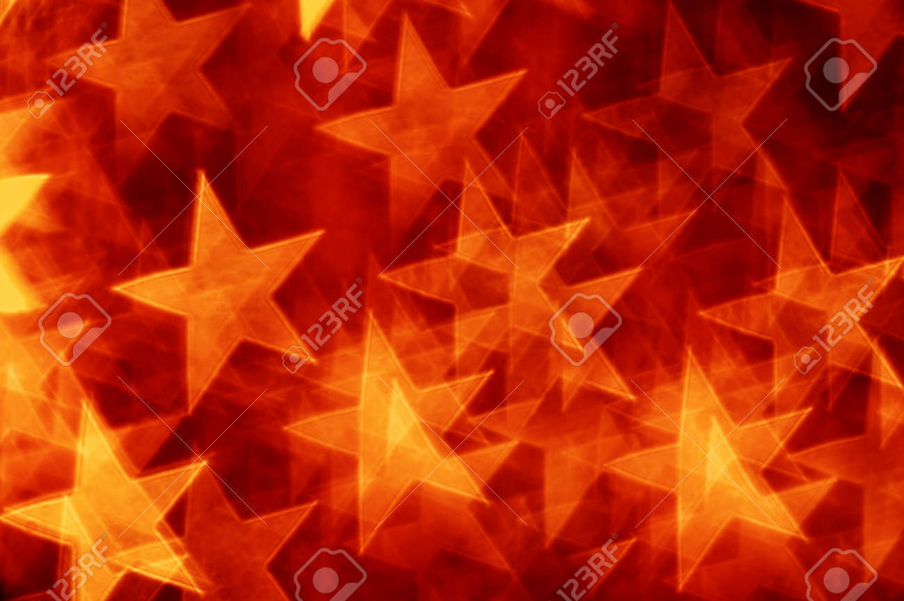 red stars bokeh as background Stock Photo - 19201317