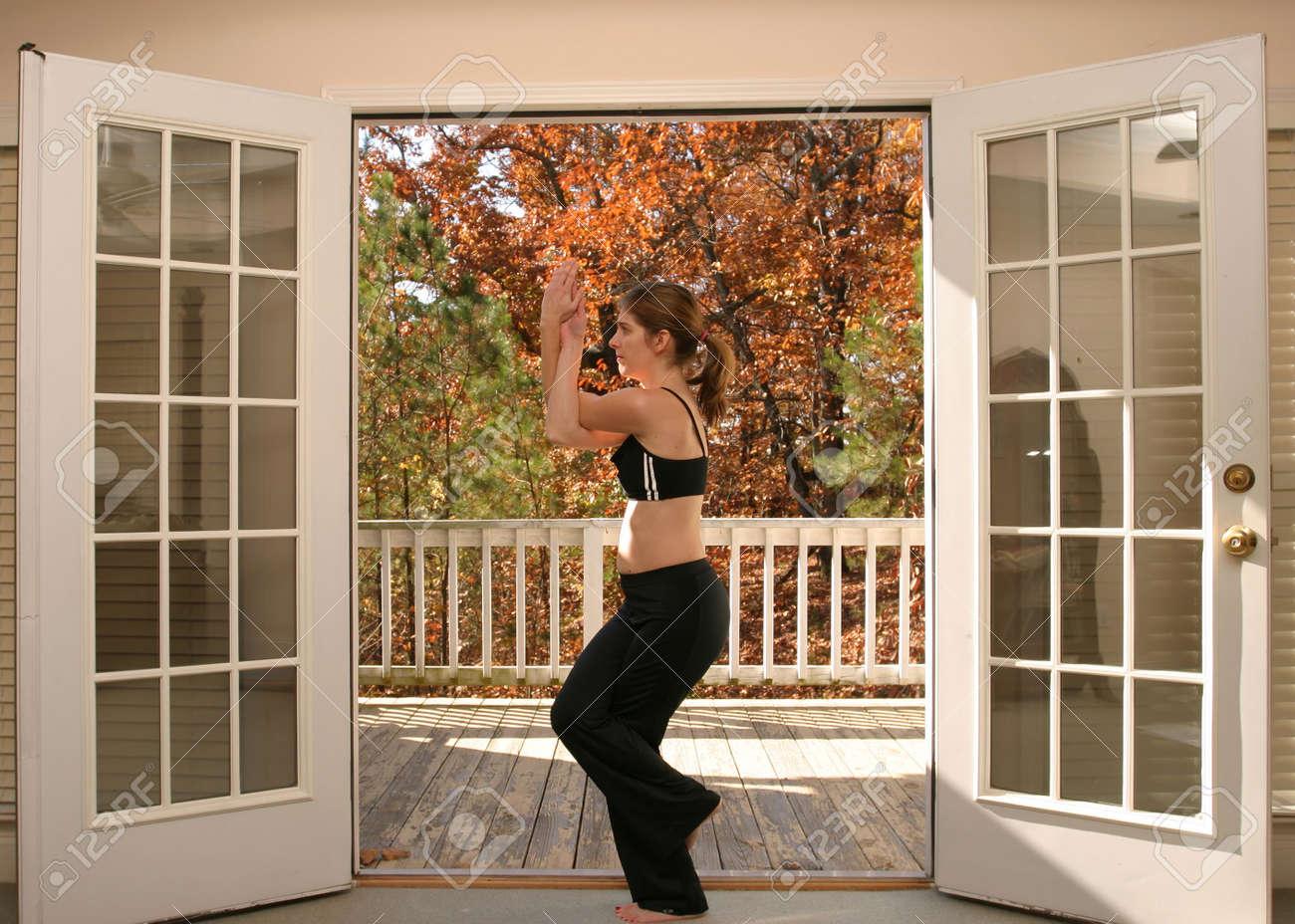 Woman doing yoga Stock Photo - 723142
