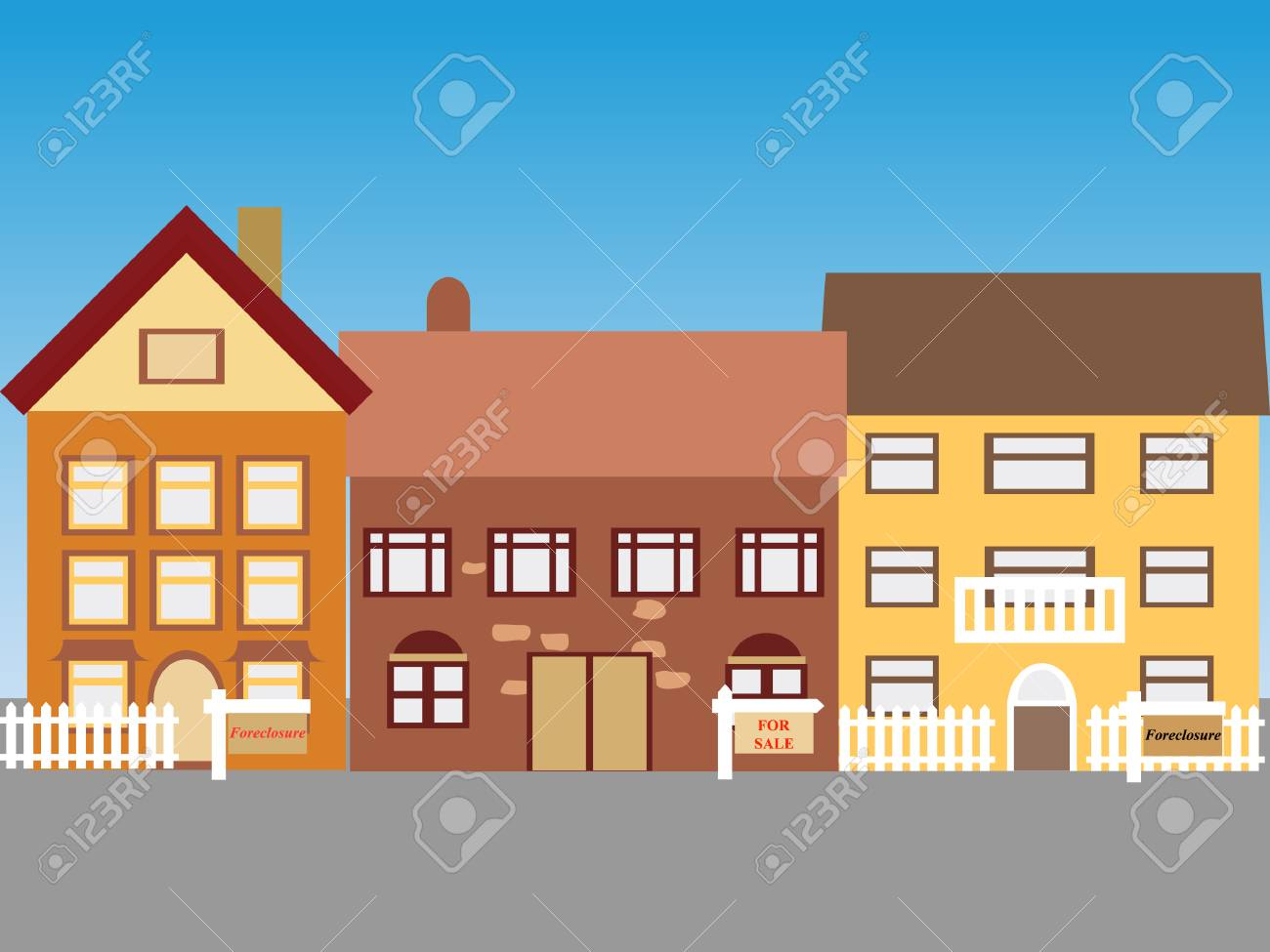 Foreclosed homes and homes for sale Stock Vector - 6743664