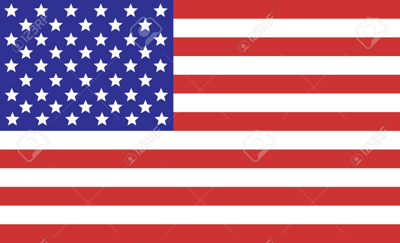 American Flag For The Fourth Of July Royalty Free Cliparts Vectors