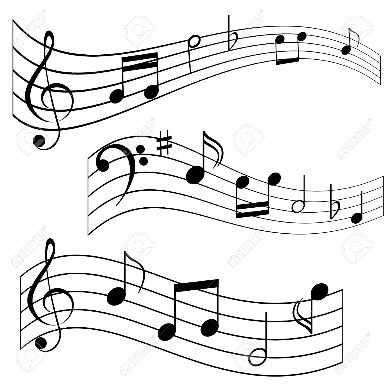 Musical notes on music sheet (melody made up) Stock Vector - 7173555