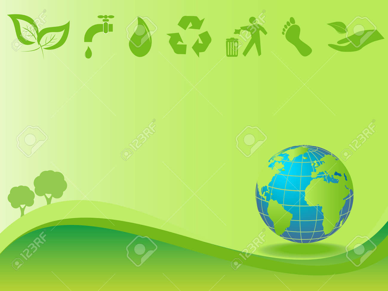 images of clean and green environment