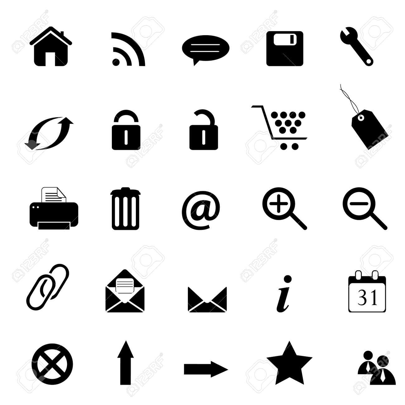 Web, e-commerce, e-business and internet icons Stock Photo - 7547550