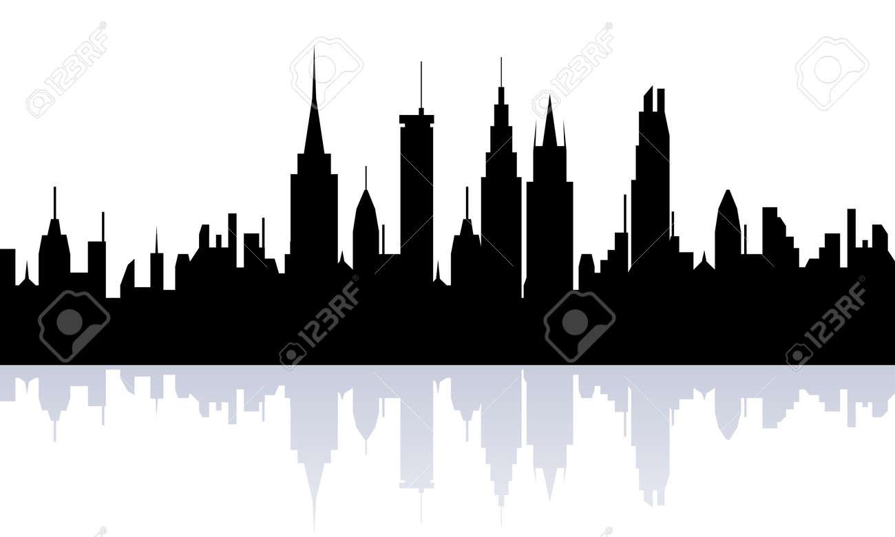 Big city skyline silhouette view Stock Photo - 7717467