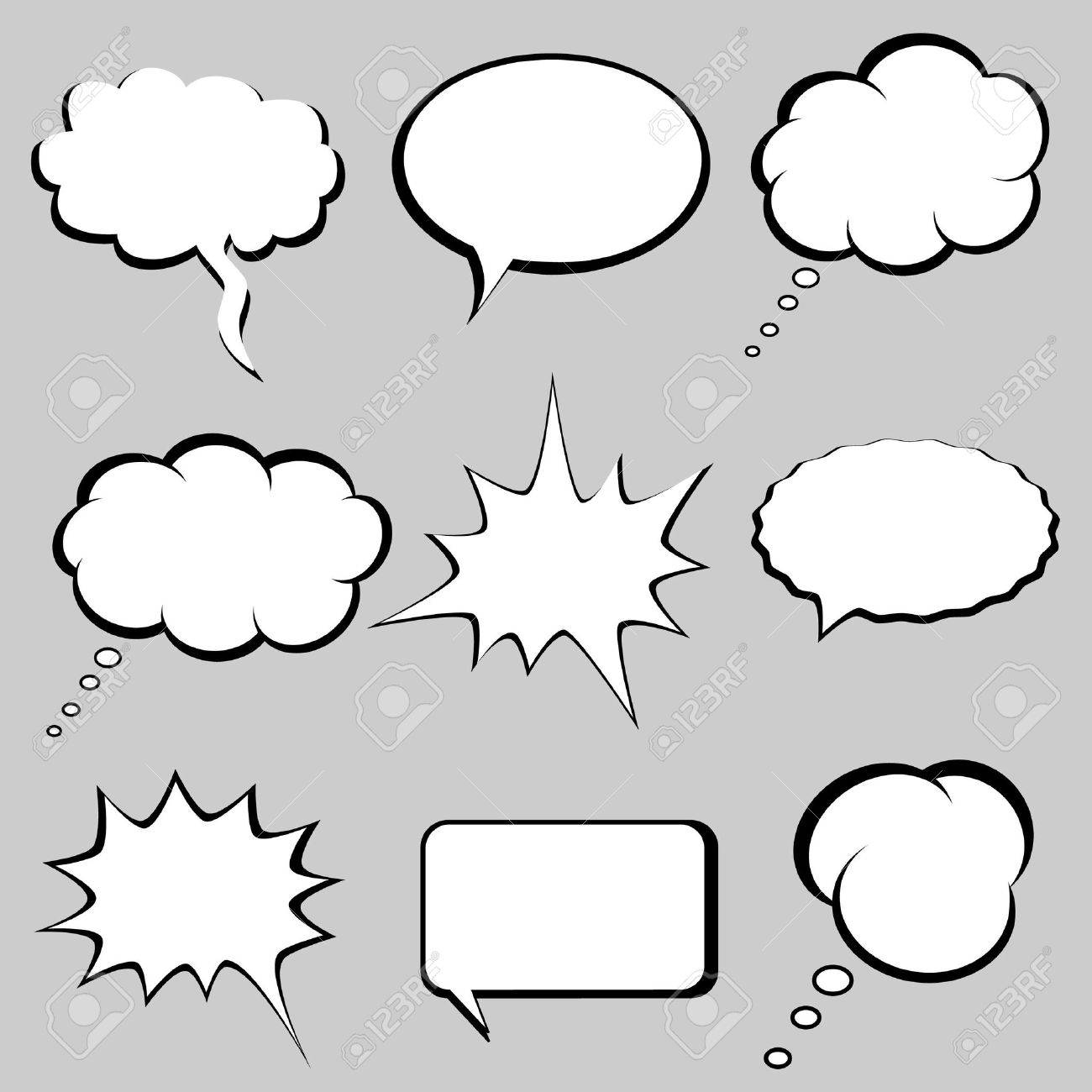 Speech and thought bubbles, balloons Stock Photo - 7717469
