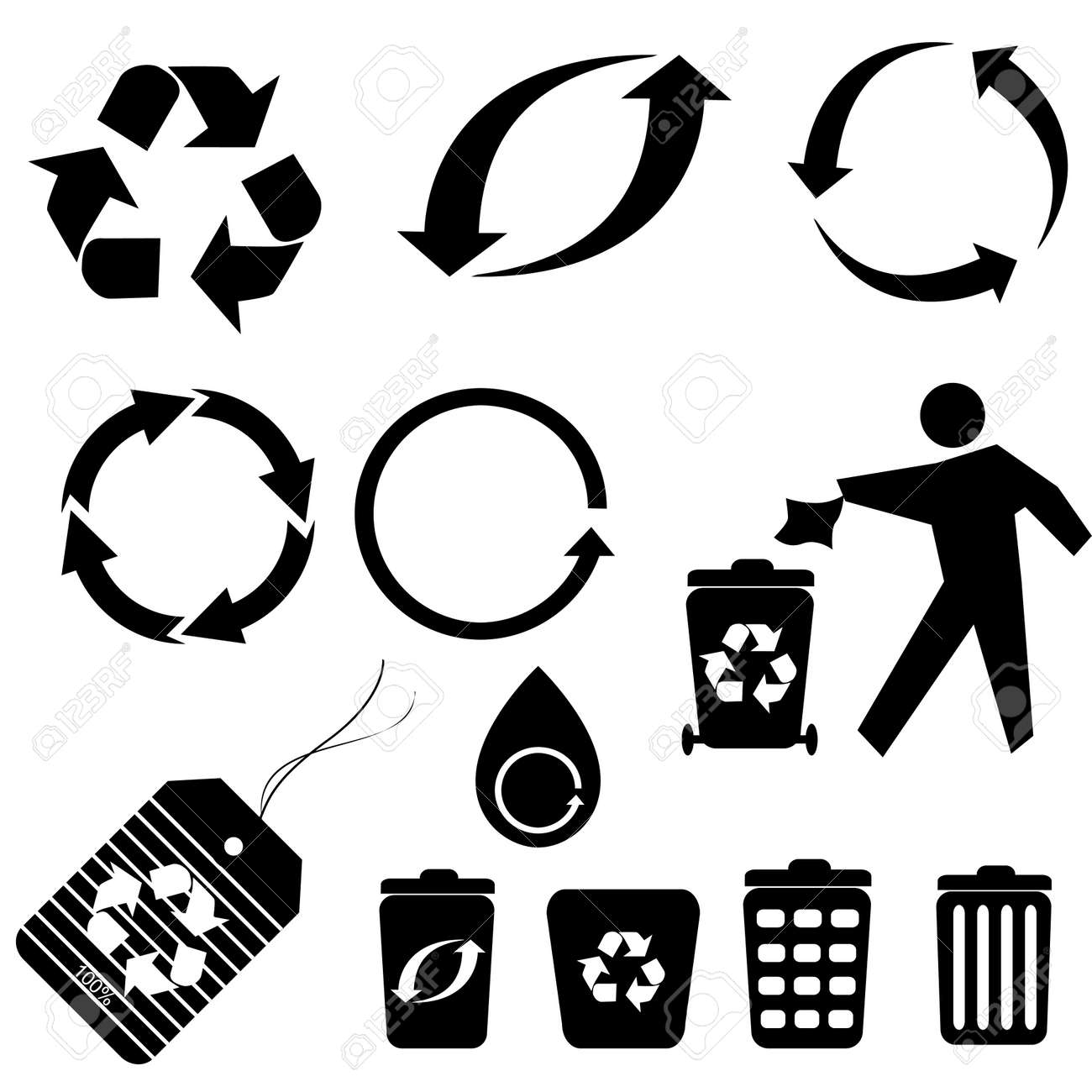 Various recycling symbols and icons royalty free cliparts vectors various recycling symbols and icons stock vector 8295041 biocorpaavc