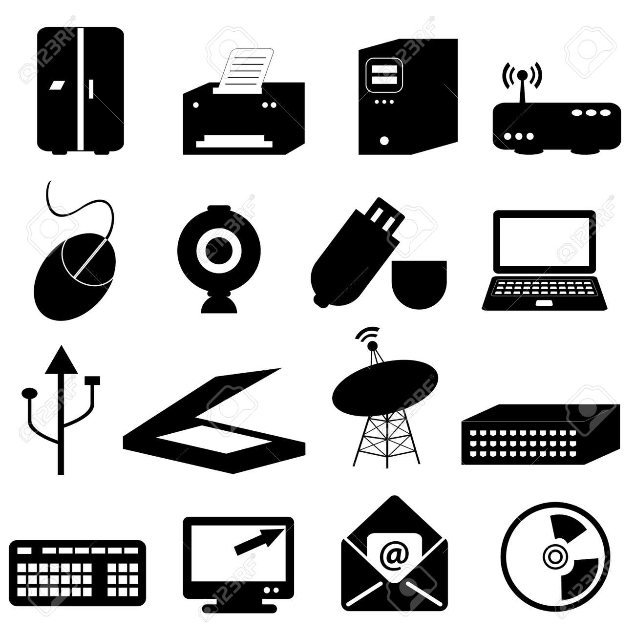 Computer and technology related icons and symbols royalty free computer and technology related icons and symbols stock vector 8776982 biocorpaavc