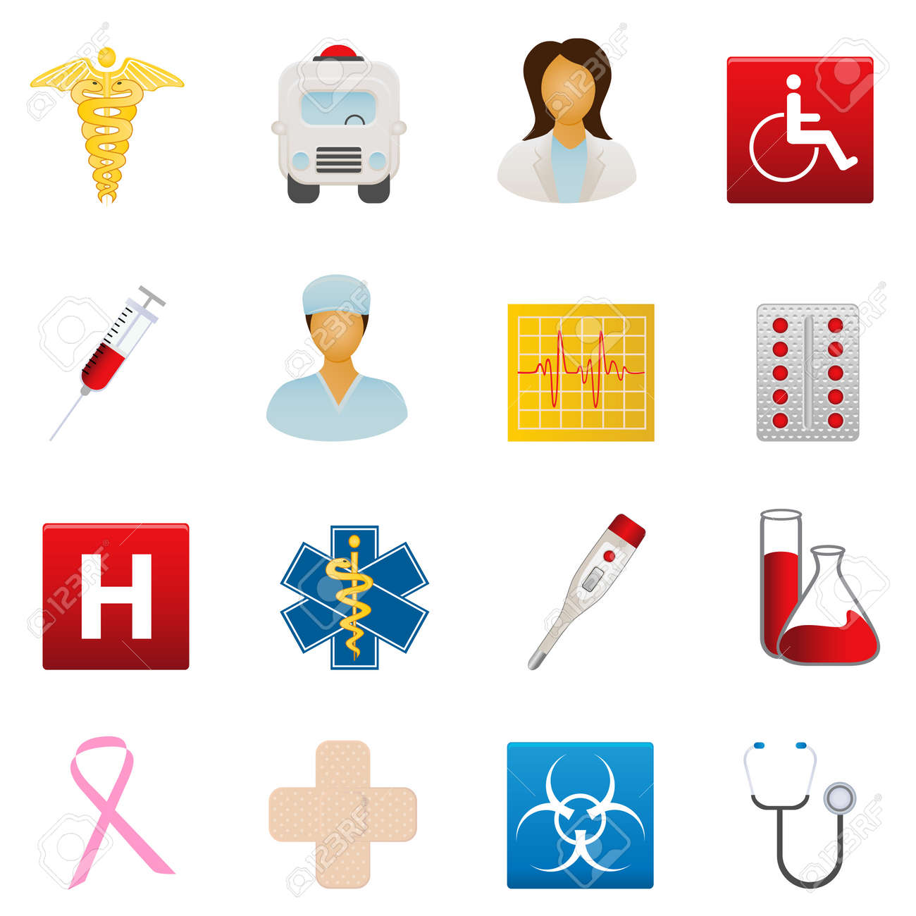 Medical and healthcare icon set Stock Vector - 9247898