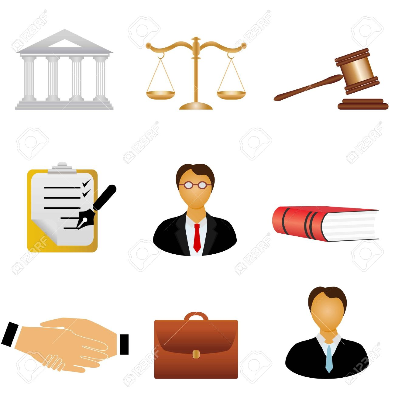 Law And Justice Related Symbols Royalty Free Cliparts Vectors And