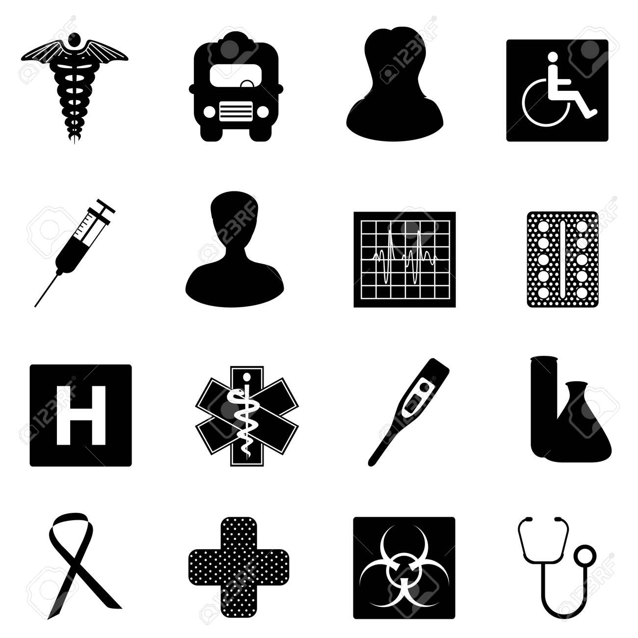 Symbols related to medicine and healthcare Stock Vector - 9330397