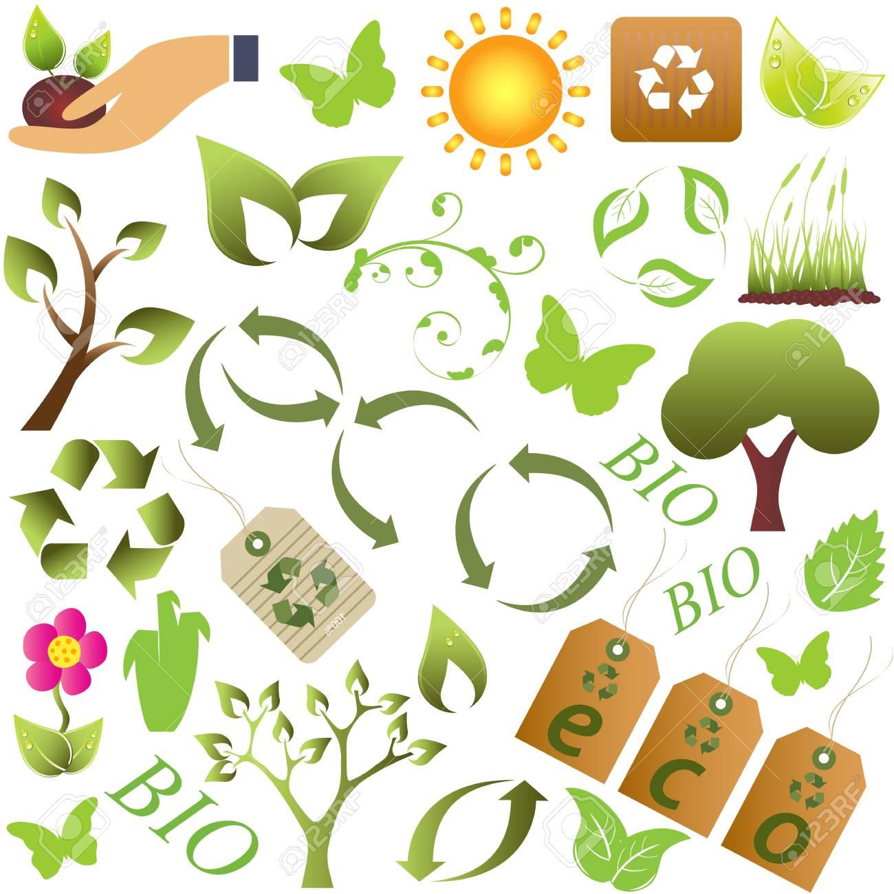 Eco and environment friendly symbols Stock Vector - 9400223