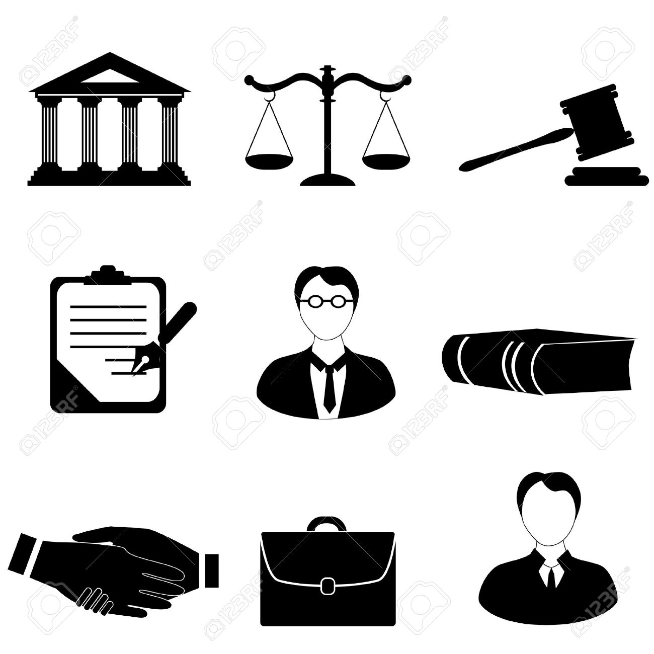 Law, Legal And Justice Related Symbols Royalty Free Cliparts ...