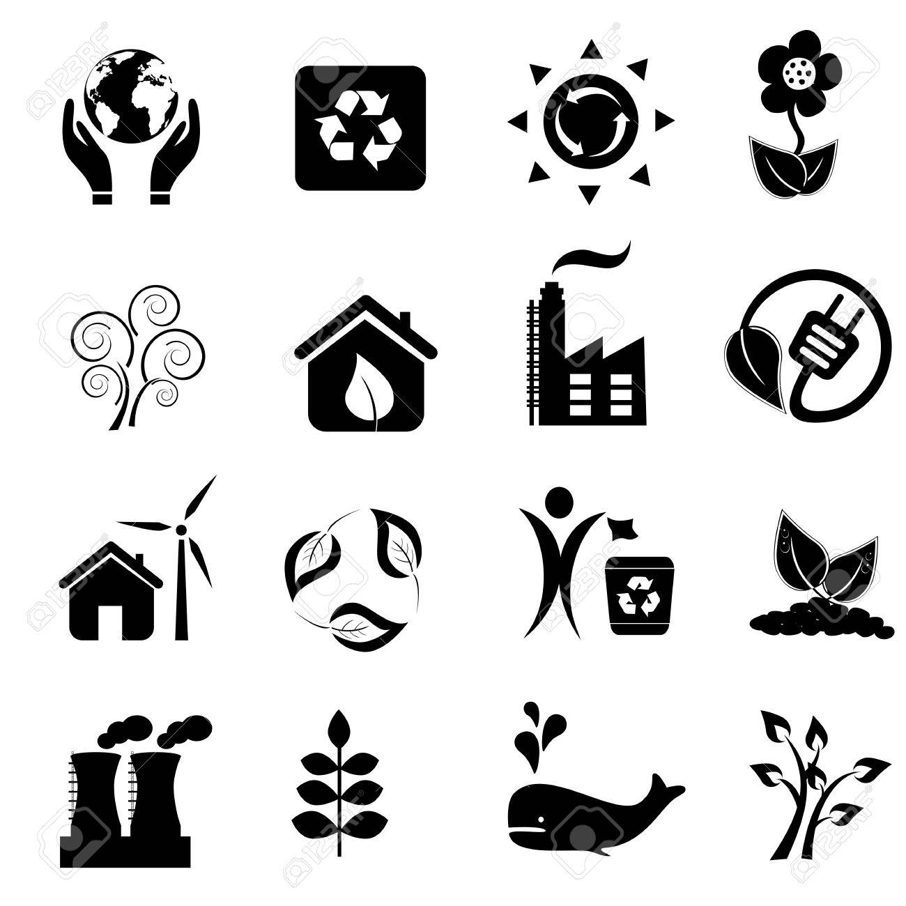 Eco and environment icon set Stock Vector - 10226762