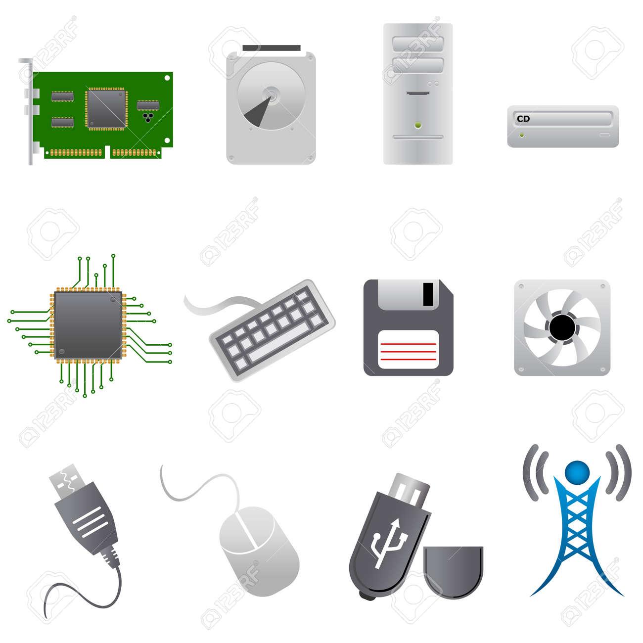 コンピューター部品、ハードウェアおよび周辺機器 ロイヤリティフリー
