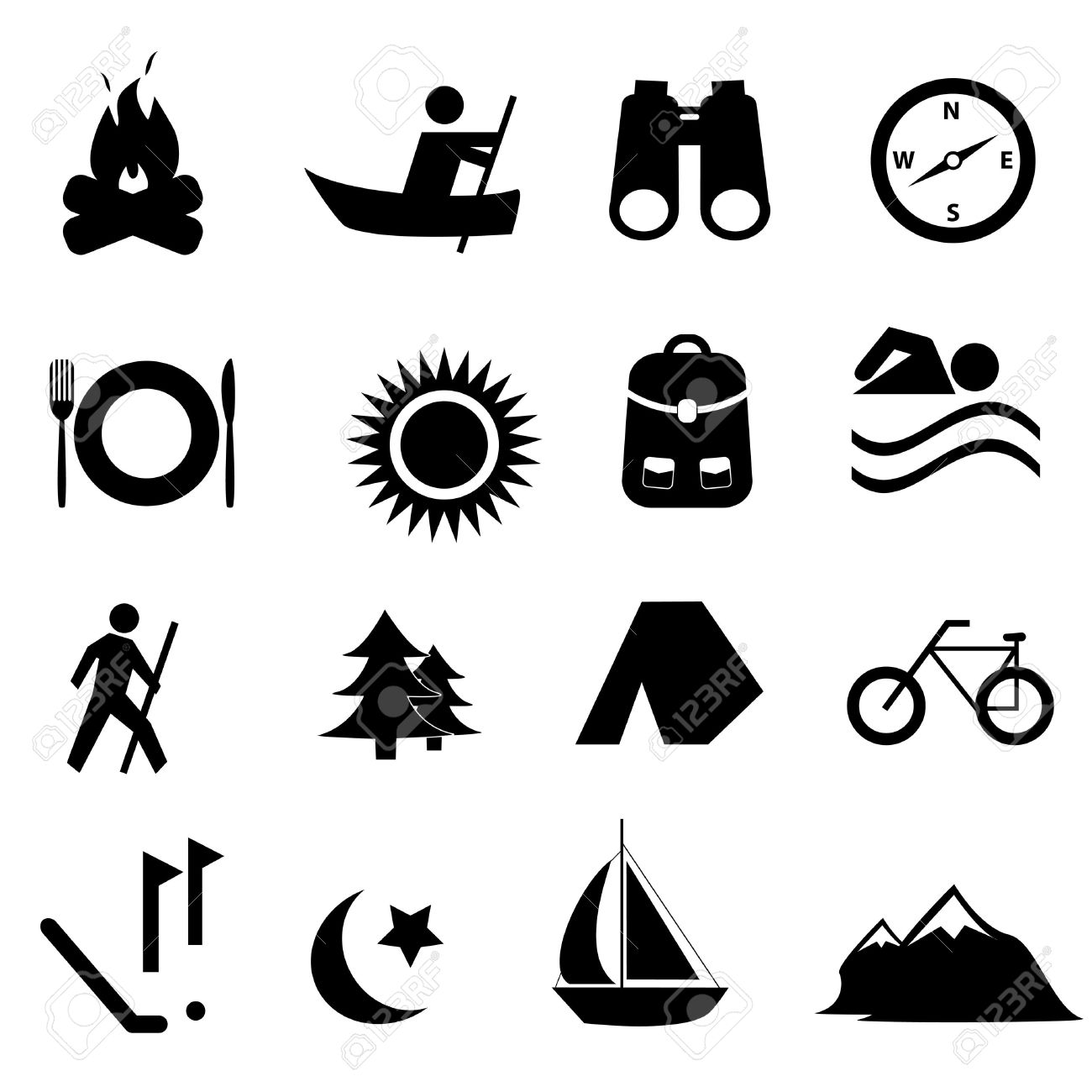 Leisure, sports and recreation icon set Stock Vector - 10484873