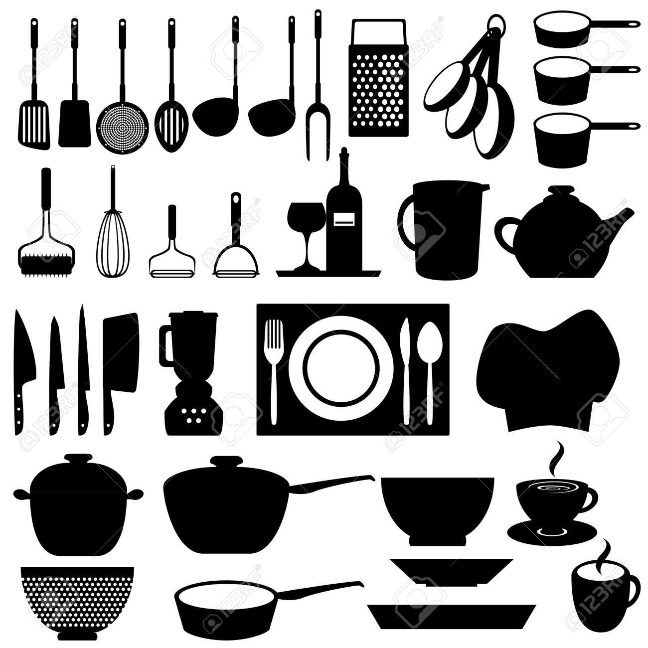 cucina e utensili da cucina di strumenti clipart royalty-free ... - Arnesi Da Cucina