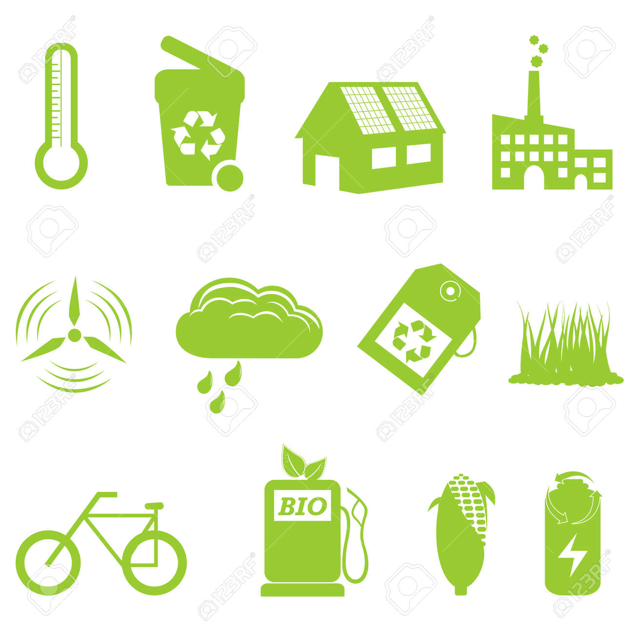 Eco and recycling related icon set Stock Vector - 10756083