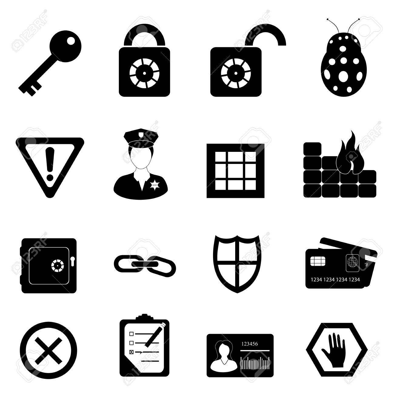 Security and safety related icon set Stock Vector - 10756084