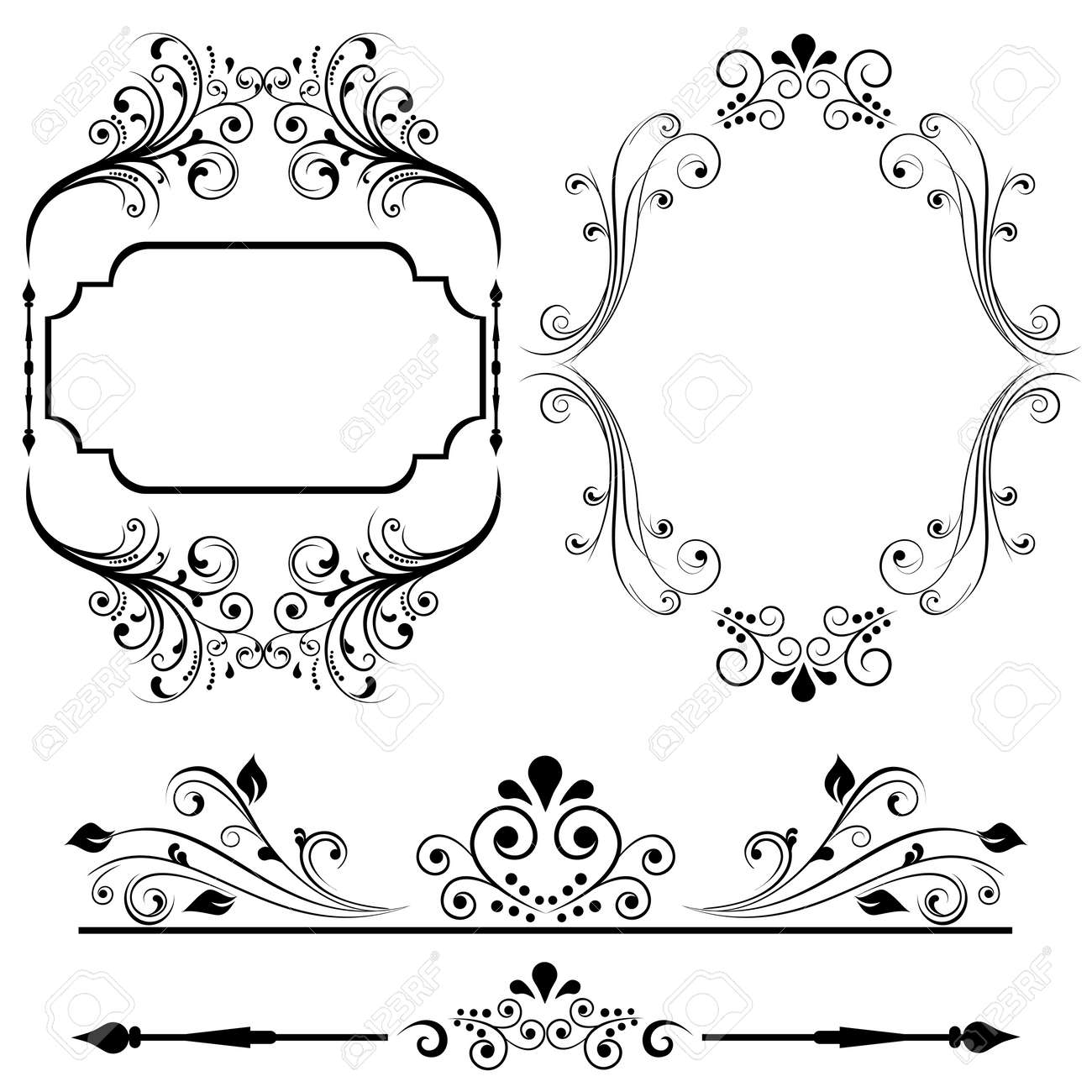 Border and frame designs for cards or invitations royalty free border and frame designs for cards or invitations stock vector 12067290 stopboris Choice Image