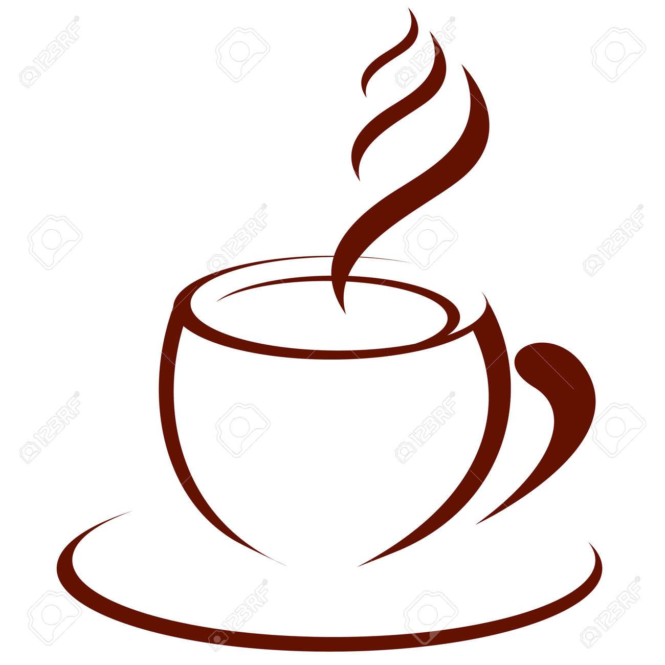 Dessin Tasse De Café Fumant tasse de café chaud clip art libres de droits , vecteurs et