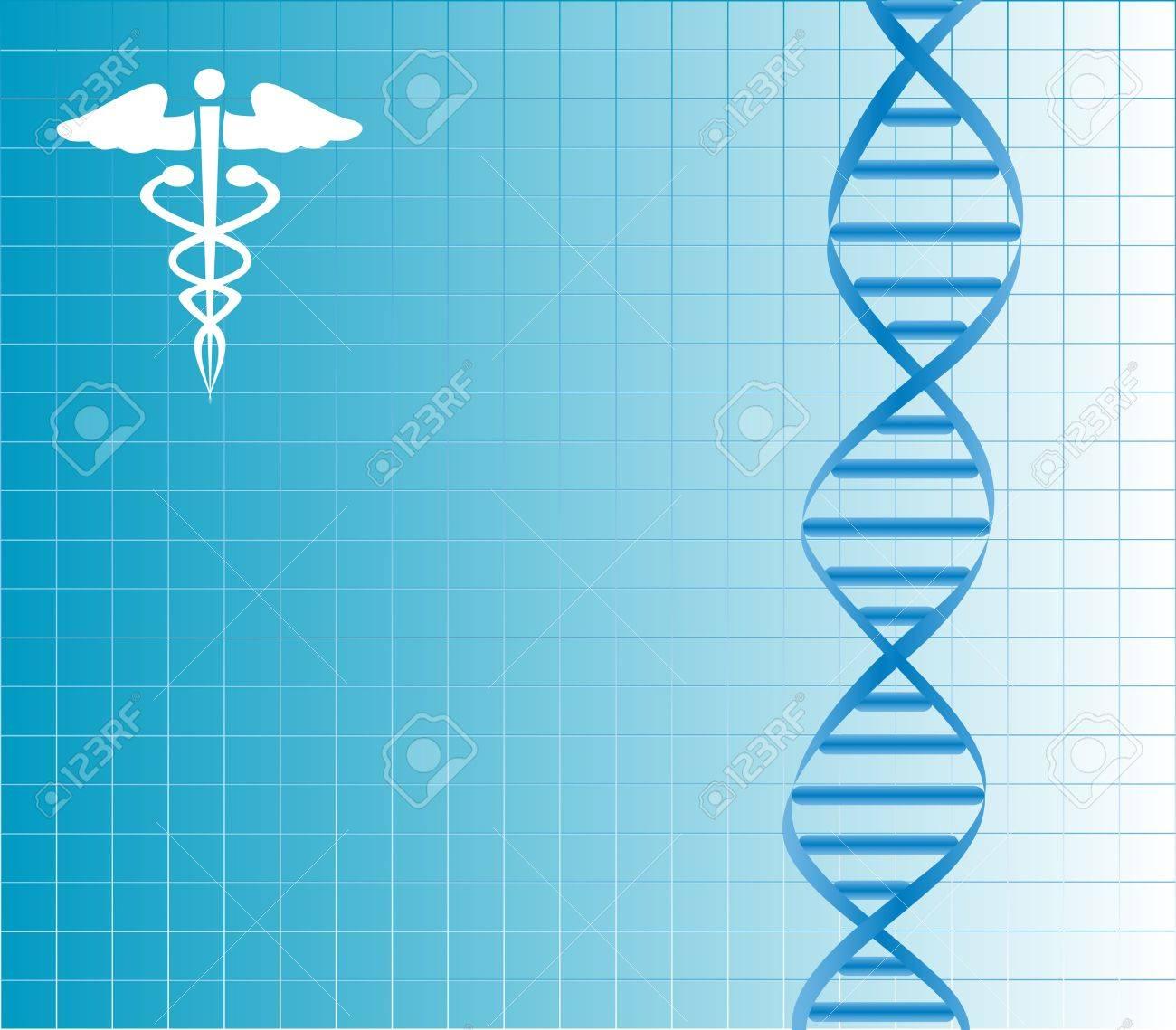 DNA strand with caduceus Stock Vector - 12305300