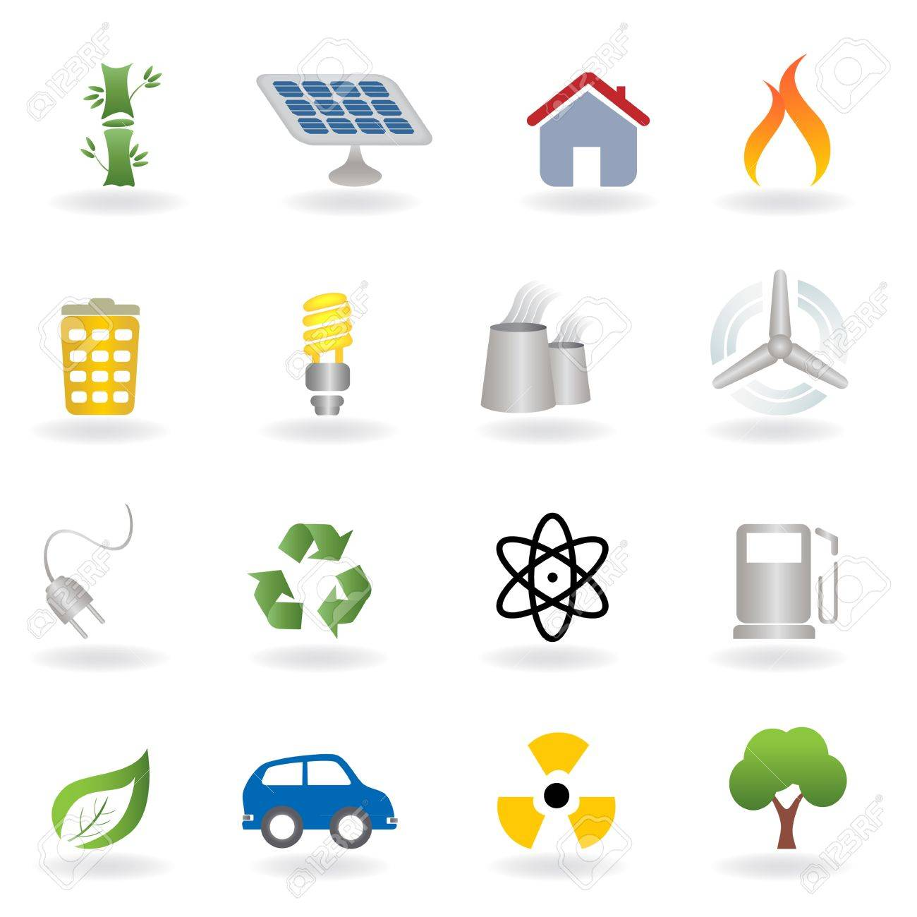 Eco and environment related icon set Stock Vector - 12305438