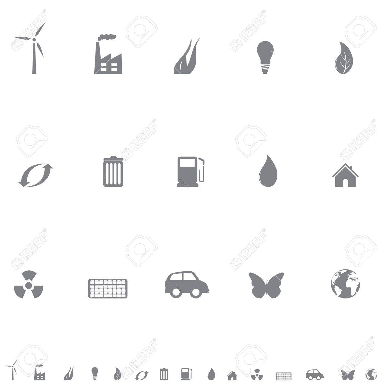 Environment friendly symbols icon set Stock Vector - 12305273