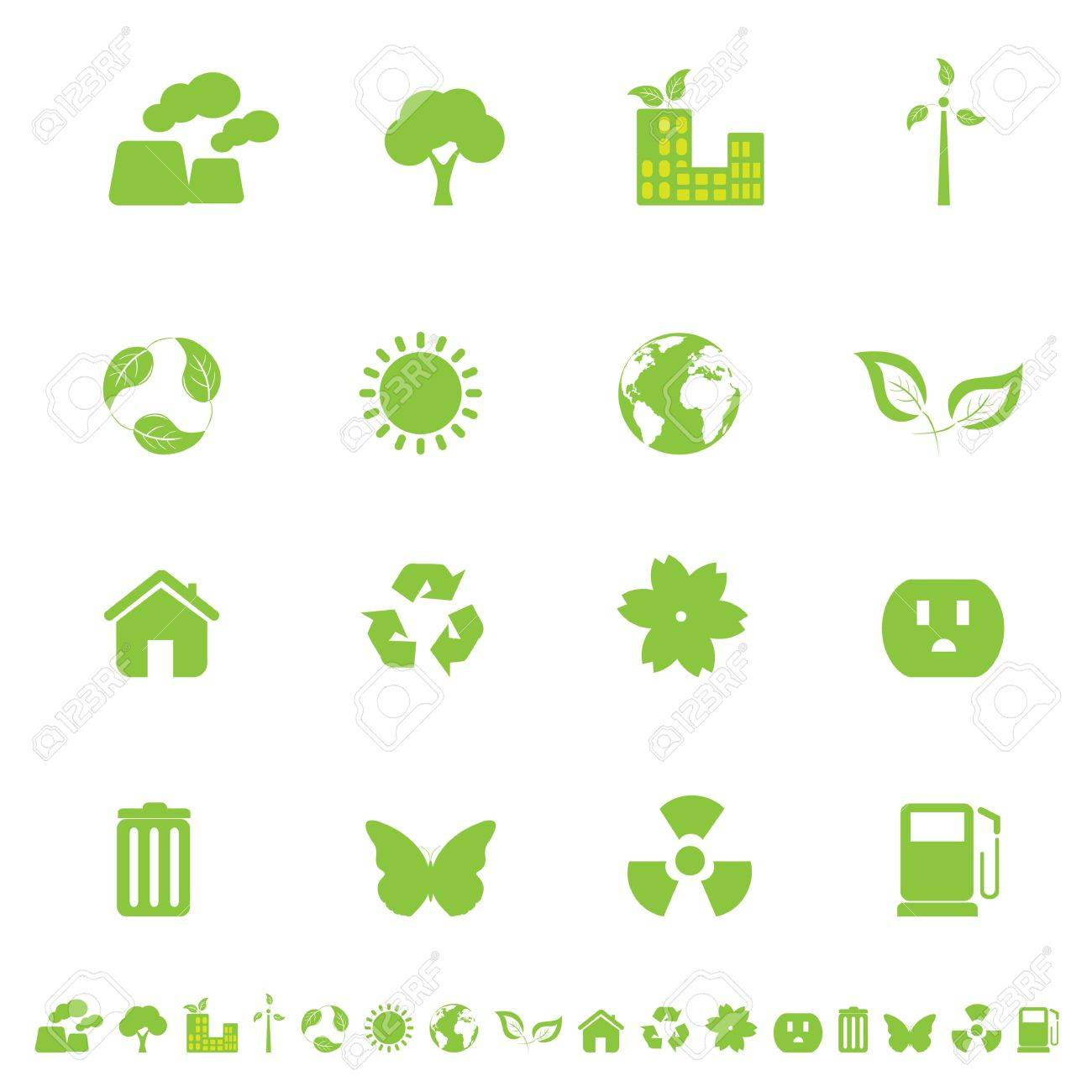 Ecology and clean environment related symbols and objects Stock Vector - 12305380