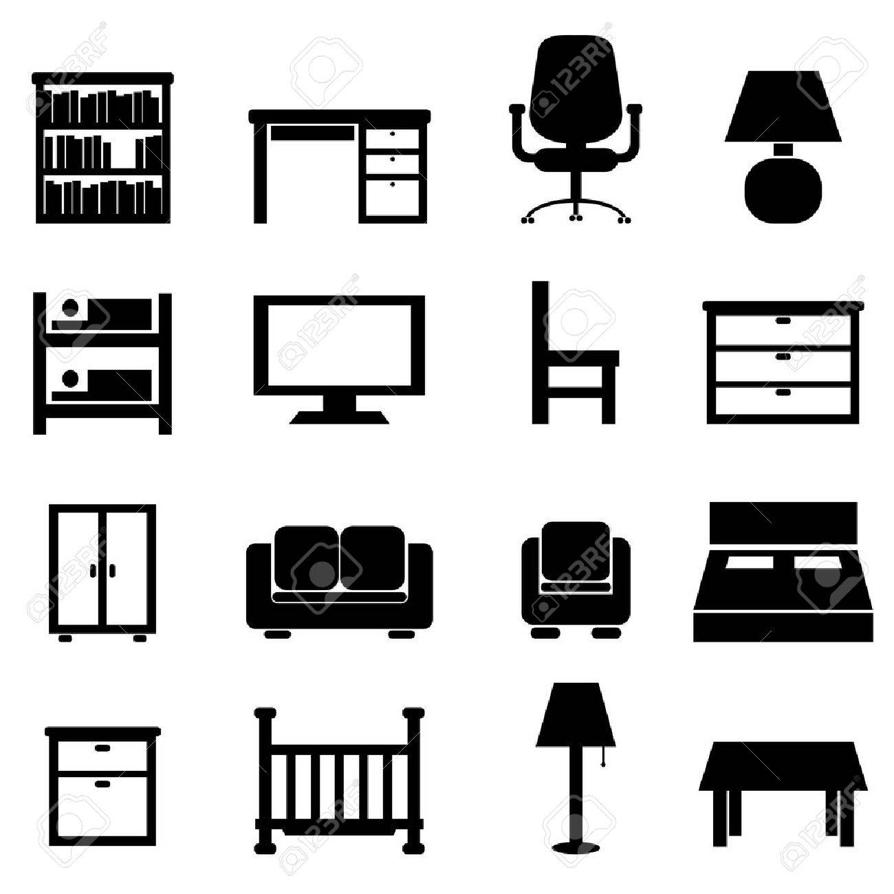 36,556 office furniture stock vector illustration and royalty free