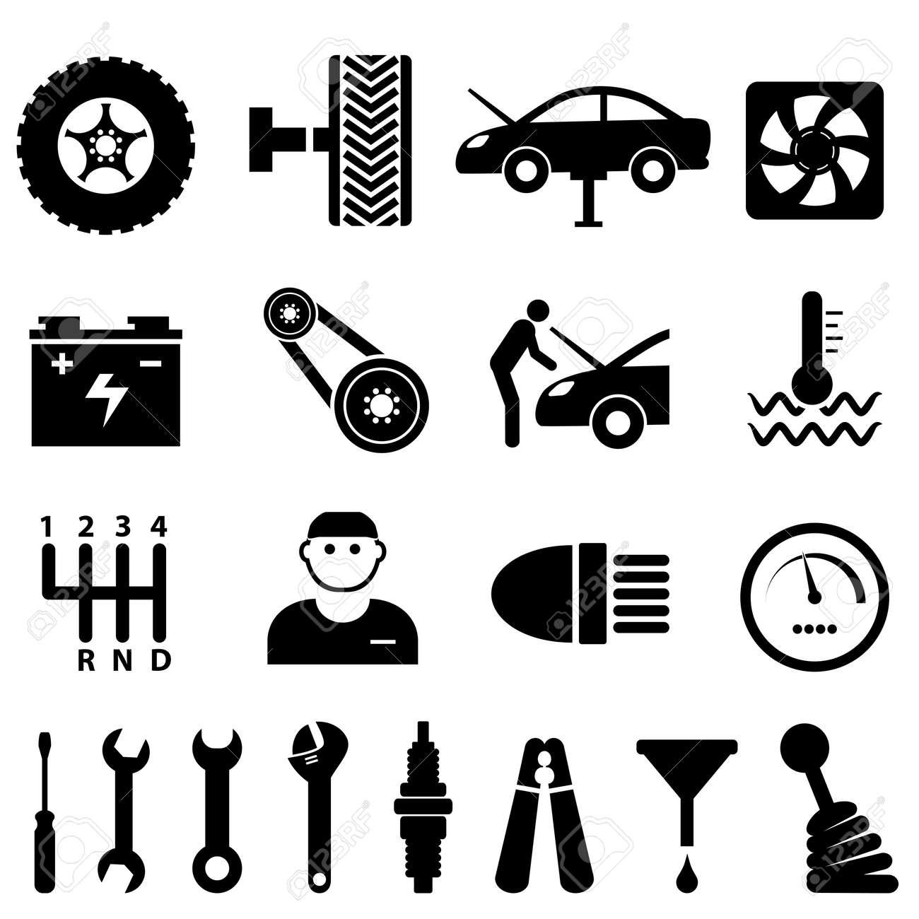 Car maintenance and repair icon set - 15805076