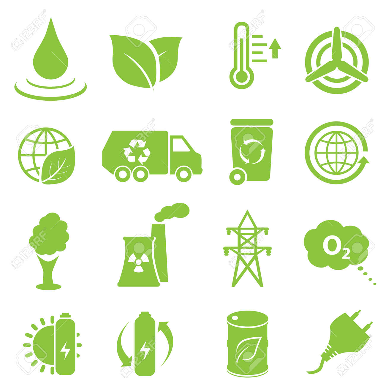 Ecology and environment icon set - 16318885