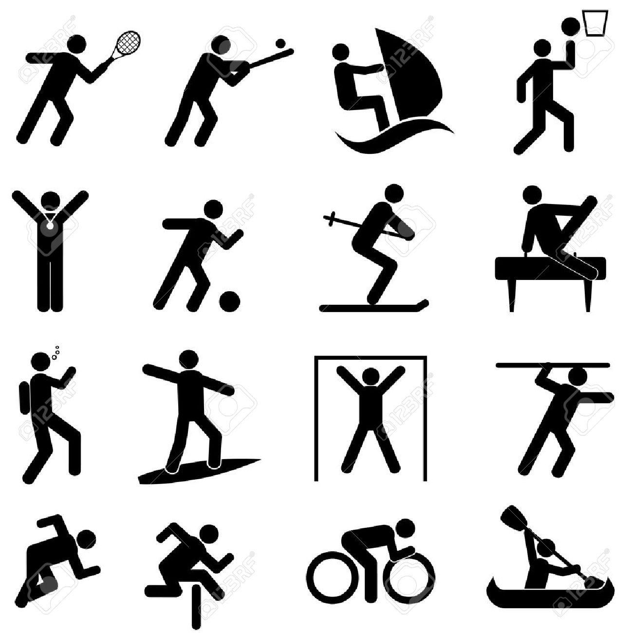 Sports and athletics icon set - 19877810