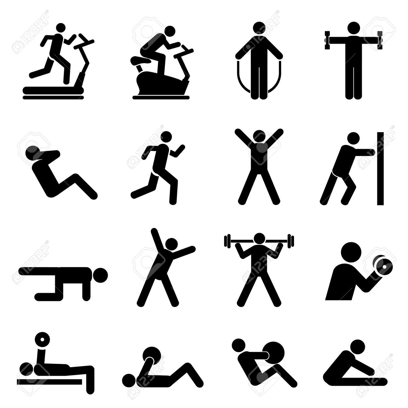 People exercising for health and fitness - 21409552