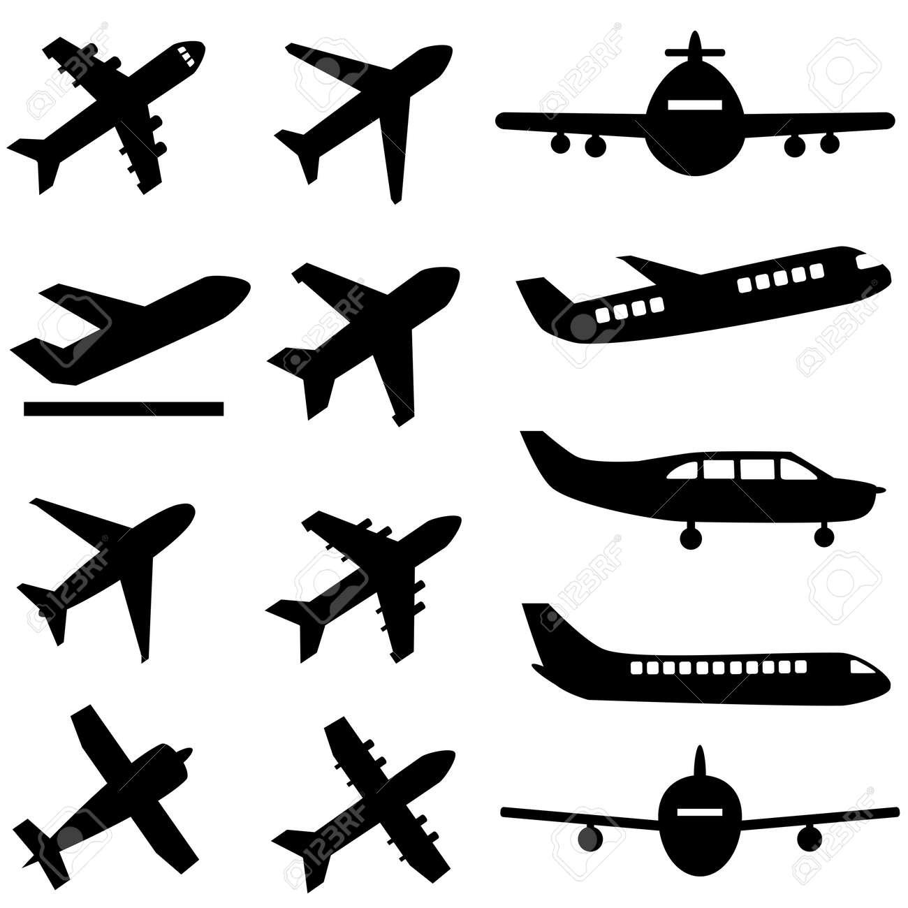 Various planes in black - 27563893