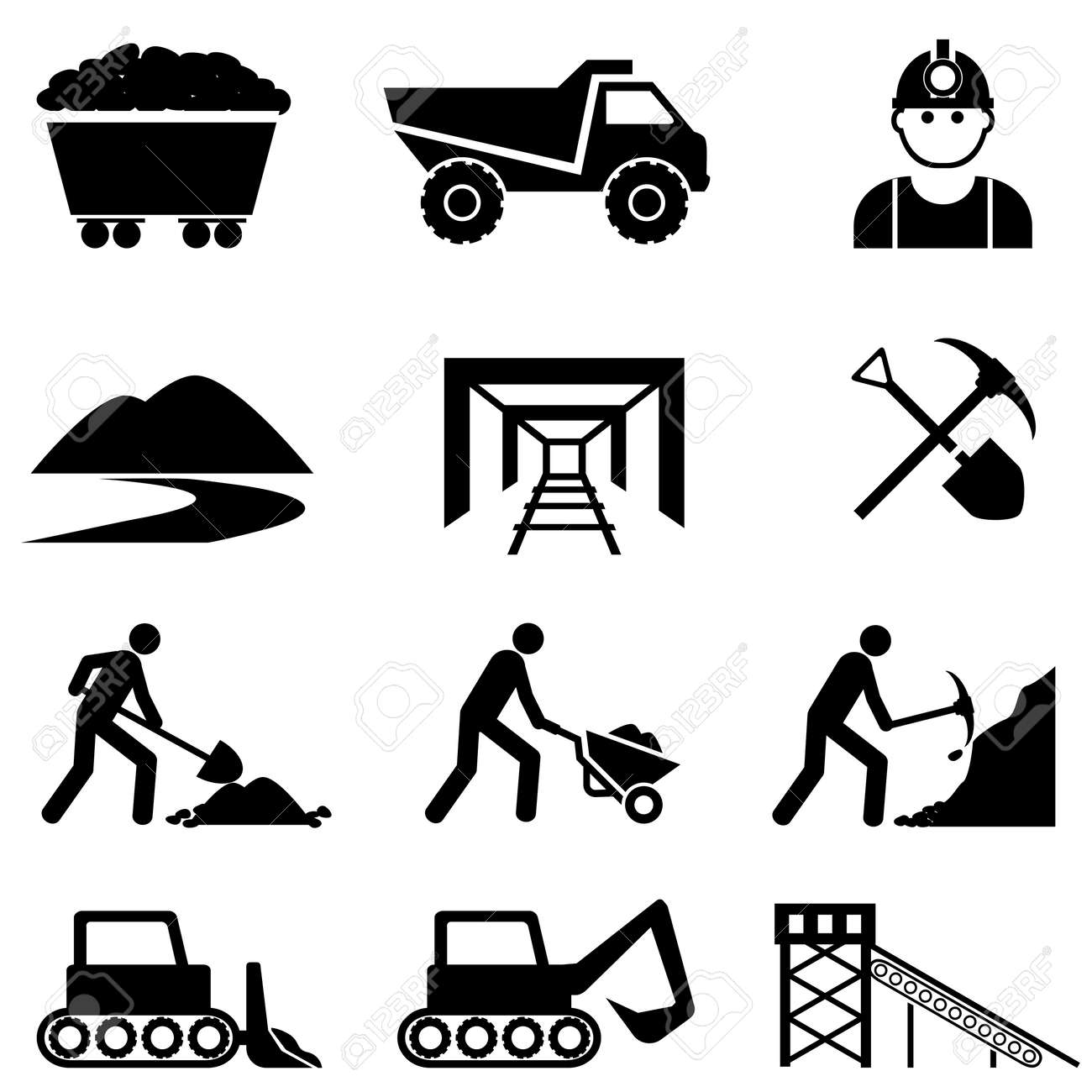 1,235 Coal Miner Stock Vector Illustration And Royalty Free Coal ...
