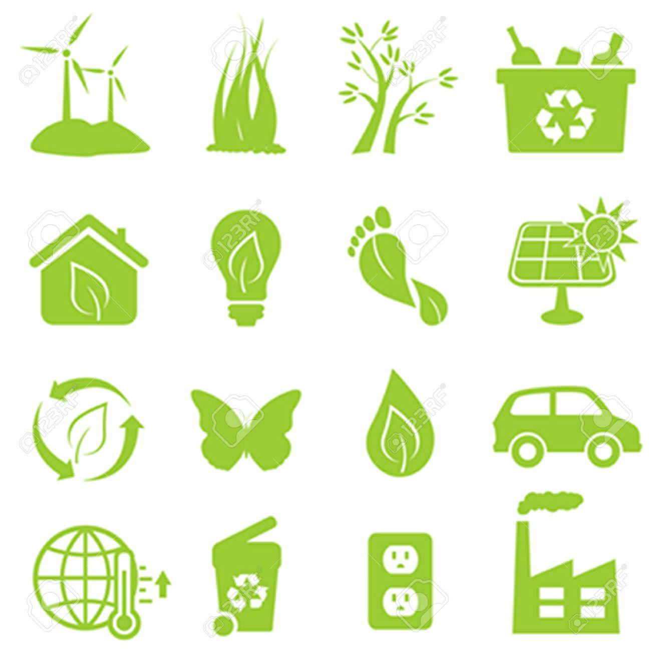 Eco and environment icon set - 44476694